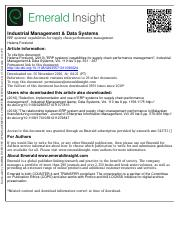 Industrial Mgt and Data System
