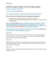 HUMN210 Assignment Exercises on Fallacious Appeals.docx