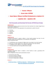 PassLeader VCP550 PDF and VCE Exam Dumps Download (201-250)
