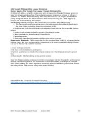 4.01 Triangle Shirtwaist Fire Legacy Worksheet - GREGORY RIGSBEE