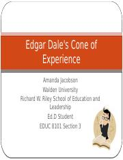 Edgar Dale's Cone of Experiences