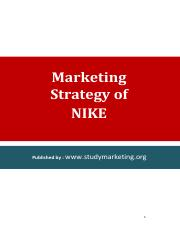 Marketing and Branding Strategy of NIKE