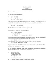 BCH361 Chapter 3-homework answers