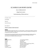 ICC WORLD CLUB SPORTS CENTRE.docx