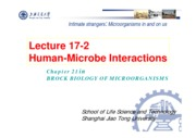 21-2 Lecture 17-2 Microbial Interactions with Humans