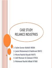 FAMILY BUSINESS_ RELIANCE LL. Presentation