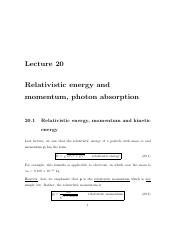 20 Relativistic Energy & Momentum, Photon Absorption.pdf