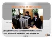 Week 5 - Recruiting at McCombs