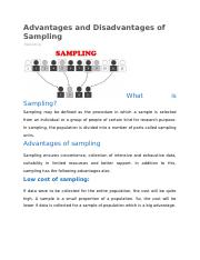 Advantages and Disadvantages of Sampling.docx