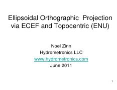 ellipsoidal orthographic projection