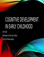 cognitive early childhood