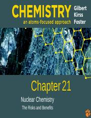 Ch 21 - Nuclear Chemistry Spring 2016