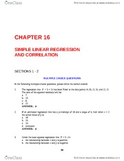 simple linear regression ch 16 test banks
