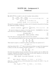 MATH 338 Assignment 9 Solutions