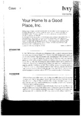 Your Home is a Good Place, inc. case