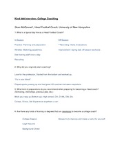 Interview Notes-College Coaching (Sean McDonnell)