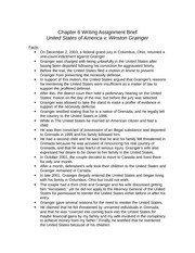 CHAPTER 6 WRITING ASSIGNMENT BRIEF
