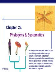 Ch_25 Phylogeny and Systematics.ppt