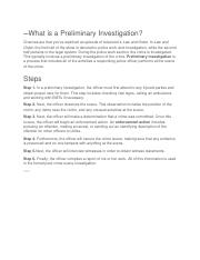 What is a Preliminary Investigation.docx