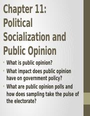 4. Chapter 11-Political Socialization and Public Opinion