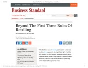 Beyond The First Three Rules Of Retailing _ Business Standard News