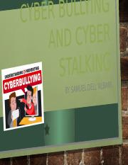 Cyber bullying and cyber stalking.pptx