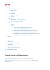Adam Smith and Economics