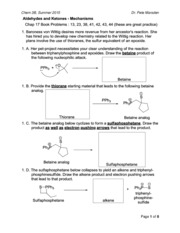 Aldehydes and Ketones - Mechanisms (Chem 3B - Summer 2015)