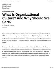 What Is Organizational Culture? And Why Should We Care?.pdf