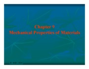 CV2101 chapt9 - Mechanical peoperties of materials