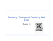 Ch 13 - Evaluating Document, Web Design