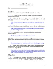 Chapter _5 - Quiz  Fall 2009 - Answers