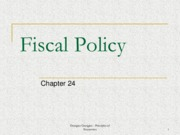 Week 10 - Fiscal Policy (Chapter 24)