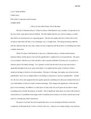 Week Two Short Fiction Essay - Cole T Weih 4039954 AMU ENGL200.docx