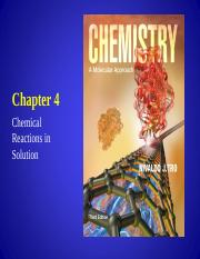 Chapter 4 - Chemical Reactions