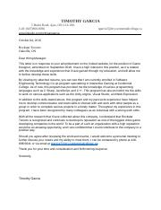 Job Search and Cover Letter Assignment - Timothy Garcia.docx