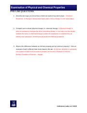 Examination of Physical & Chemical Properties Pre-Lab Questions.docx