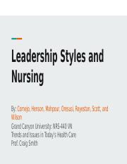 Leadership Styles and Nursing.pptx