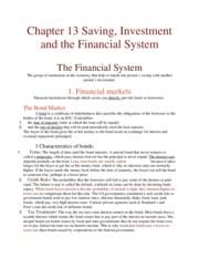 Chapter 13 Saving, Investment, and the Financial System