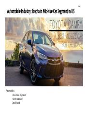 Marketing  Management Presentation - Automobile Industry - Toyota v1.2.pdf