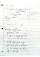 Industry Analysis Notes