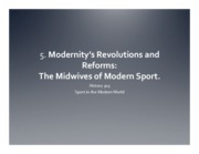 5. Modernity's Revolutions and Reforms