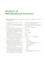 Answers to odd-numbered exercises