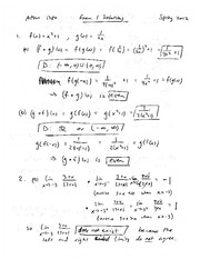 Exam 1 Solution Spring 2012 on Calculus 1 for Engineers