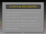 Concept of Costs  402Win 2015
