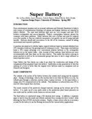 SUPER BATTERY-SUMMARY