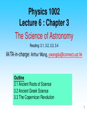 Lecture 6 - Chapter 3