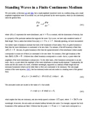 (27) Standing Waves in a Finite Continuous Medium