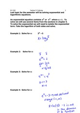 Lecture 5.5 on Solving Logarithmic Equations