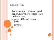 Socialization and social interaction (2)
